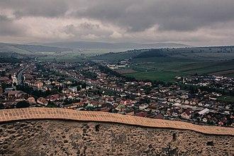 Rupea - Image: Orasul Rupea vazut din Cetatea Rupea 2