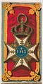 Order of Seraphs, Sweden and Norway, from the Military Series (N224) issued by Kinney Tobacco Company to promote Sweet Caporal Cigarettes MET DPB874392.jpg