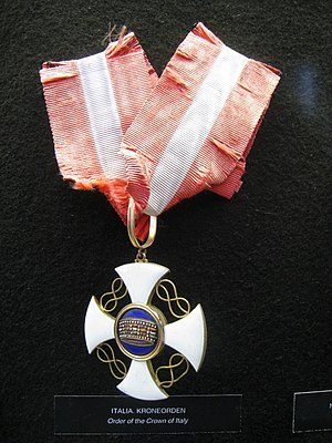 Order of the Crown of Italy - Image: Order of the Crown of Italy Fram Museum