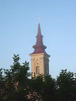 Orešac, Romanian Orthodox church.jpg