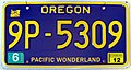 Oregon Pacific Wonderland license plate 2009.jpg