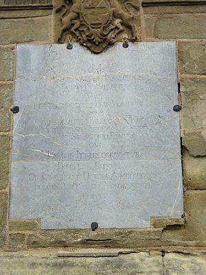 Georges de Bièvre - Detail of the plaque