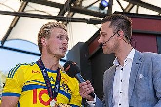 Oscar Hiljemark - Hiljemark interviewed after winning the 2015 U21 European Championship