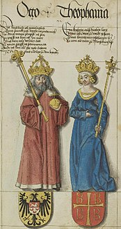 Otto II HRR and his wife.jpg