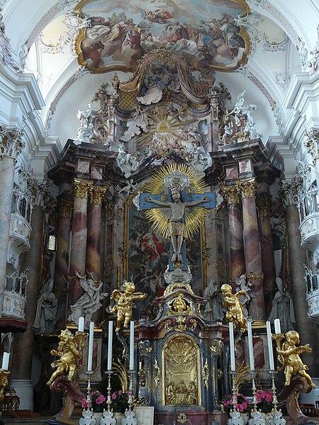File:Ottobeuren kloster ottobeuren altar of the holy cross 001.JPG