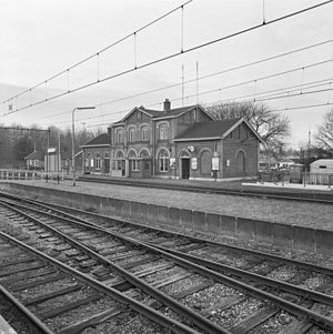 't Harde railway station - Railway station in 1973