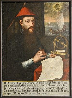 Caspar Castner - Portrait of P. Caspar Castner S.J. in the government building of the canton of Lucerne