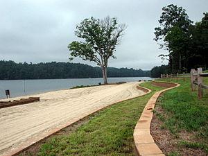 Lake James State Park - Paddy's Creek swimming beach
