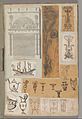 Page from a Scrapbook containing Drawings and Several Prints of Architecture, Interiors, Furniture and Other Objects MET DP372063.jpg