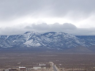 Pahrump, Nevada - View of the mountains from town