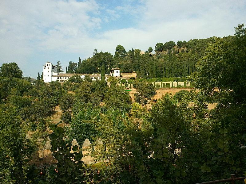 File:Paisaje del palacio del Generalife.jpg