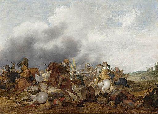 Palamedes Palamedesz. - Cavalry Battle Scene - WGA16881