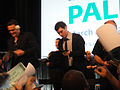 PaleyFest 2011 - Freaks and Geeks-Undeclared Reunion - Jason Segel and John Francis Daley sign for fans (5525056334).jpg