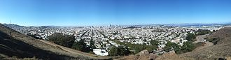 Bernal Heights Summit - Panorama from Bernal Heights Summit