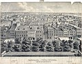 Panorama of Philadelphia from the State House steeple. North, c1838. (4700762536).jpg