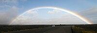 Panorama of Rainbow in Hawaii Volcanoes National Park.jpg