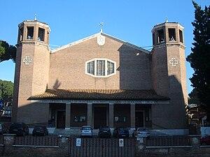 San Roberto Bellarmino (church) - San Roberto Bellarmino Church facade