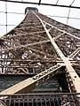 Paris Eiffel Tower second floor view upwards 20060704.jpg