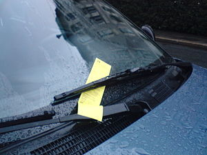 Parking ticket in Oslo, Norway.