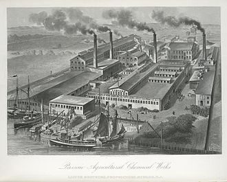 Agrochemical - The Passaic Agricultural Chemical Works in Newark, New Jersey, 1876