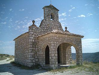 Pastrana, Spain - Chapel at top of hill overlooking Pastrana.