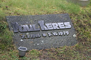 Paul Keres - Paul Keres tomb at Tallinn's Forest Cemetery