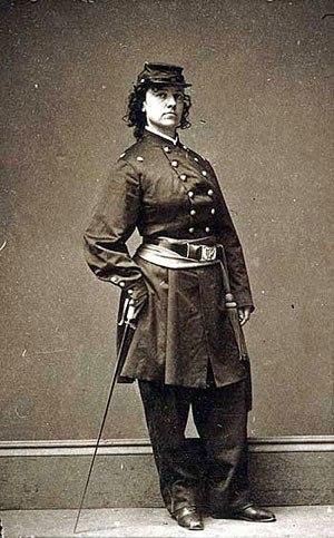 Pauline Cushman - Photograph by Mathew Brady of Cushman in uniform