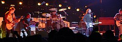 Pearl Jam in 2006, left to right: Mike McCready, Jeff Ament, Matt Cameron, Eddie Vedder and Stone Gossard
