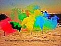 Pedro Meier Rauch Performance »Illuminated Color Smoke Bombs Project«, Installation 2015, Photo © Pedro Meier Multimedia Artist.jpg