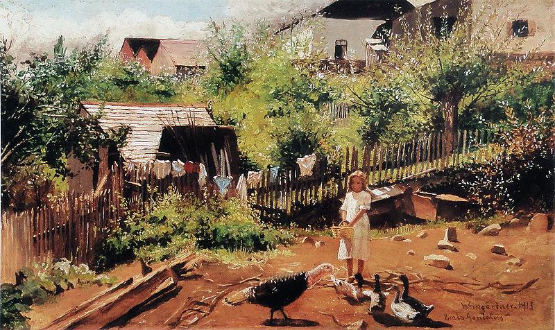 Ficheiro:Pedro Weingärtner - Fundo de quintal com menina - 1913.jpg