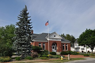 Pelham, New Hampshire - The Pelham Library and Memorial Building, now home to the local historical society