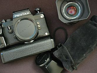 Pentax LX - Pentax LX with motor winder, sports finder, and accessories