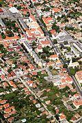Pest county Monor IMG 0233 Nagyboldogasszony catholic church and Monor-Nagytemplomi Reformed Church.JPG