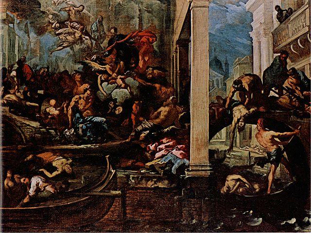 La Vergine che appare agli appestati (durante la peste a Venezia del 1630) - A.Zanchi