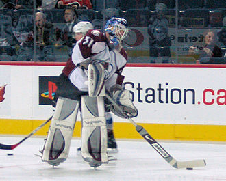 Peter Budaj - Budaj with the Avalanche in 2007.