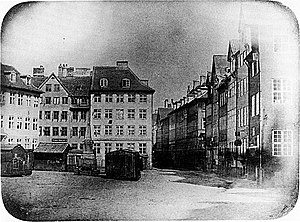 Photography in Denmark - Peter Faber: Ulfeldts Plads (1840), Denmark's oldest photograph on record
