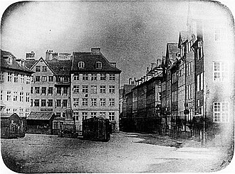 1840 in Denmark - Peter Faber: Ulfeldts Plads,the oldest Danish photograph on record