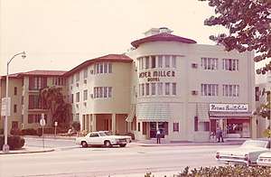 Miami Beach, Florida - Hotel at 19th and Collins in 1973