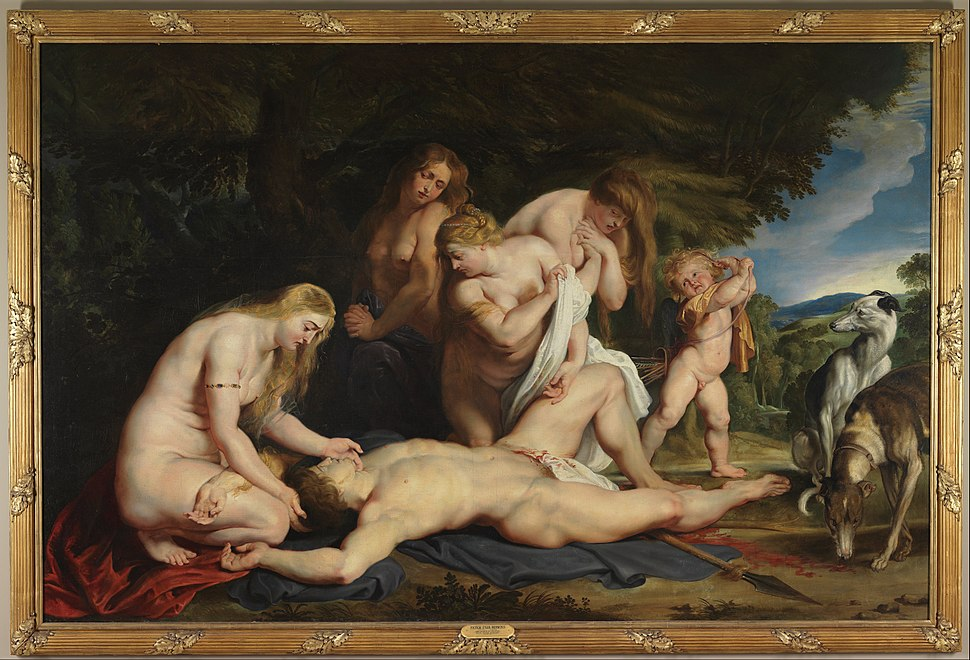 Peter Paul Rubens - The Death of Adonis (with Venus, Cupid, and the Three Graces) - Google Art Project