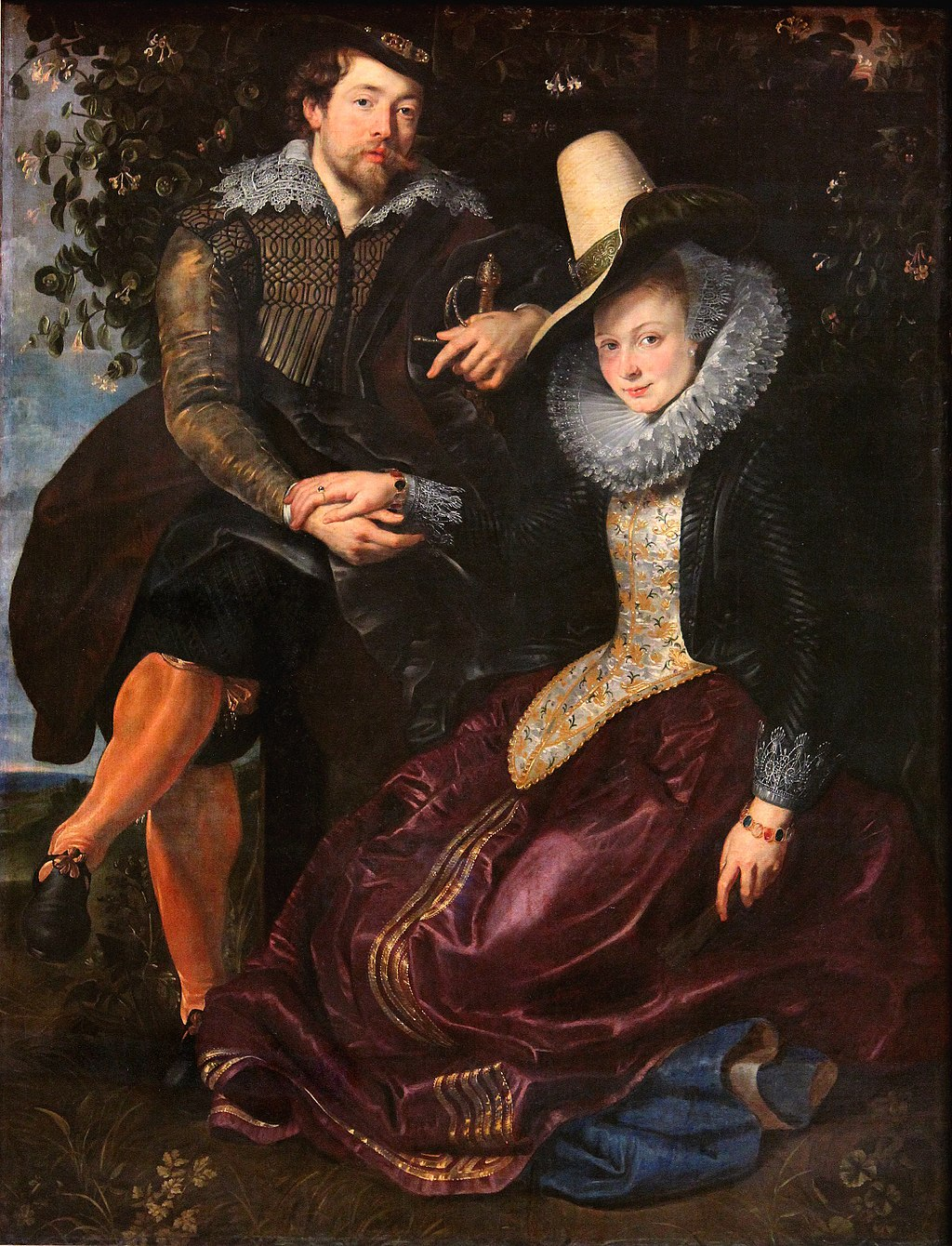 Peter Paul Rubens Peter Paul Rubens - The Artist and His First Wife, Isabella Brant, in the Honeysuckle Bower