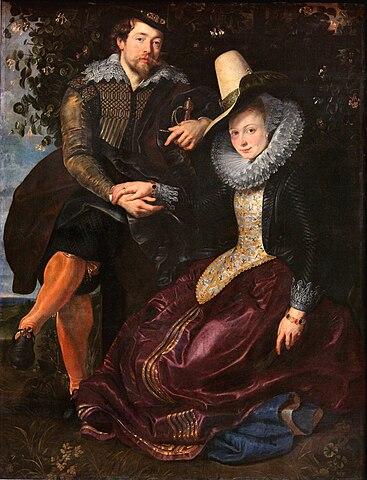 В жимолостной беседке, 1609, холст, масло, 178×136,5см. Старая пинакотека, Мюнхен