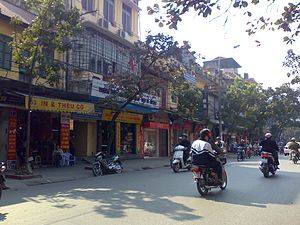 Shophouse - Shophouses in Hang Bong, Hanoi, Vietnam
