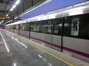Baiyappanahalli metro station - Image: Pic from Namma metro baiyappanahalli station 1481