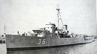 Antisubmarine frigate, built in Argentina, in service with the Argentine Navy from 1958 to 1972.