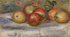 Pierre-Auguste Renoir: Apples, Orange, and Lemon (Pommes, oranges et citrons)