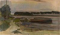 Piet Mondriaan - On Ouderkerkerdijk near the Omval - 0334270 - Kunstmuseum Den Haag.jpg