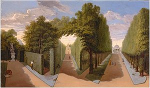 Pieter Andreas Rijsbrack - Chiswick House Gardens: A view of the Bagnio and Grand Allees