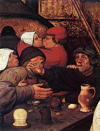 The Peasant Dance - Detail from leftmost composition