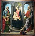 Pietro del donzello, madonna col bambino, santi e committente, da museo di incisa, 1498-1500 ca. 01.JPG