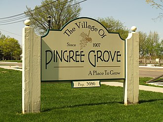 Pingree Grove, Illinois - Village sign